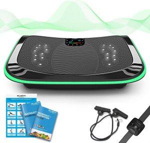 plaque-vibrante-sport-bluefin-fitness-4d-noir-avec-accessoires