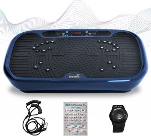 plateforme-vibrante-skandika-home-V1-Twin-Engine-bleu-avec-accessoires